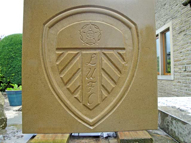 Leeds United football plaque