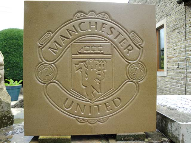 Manchester United football plaque