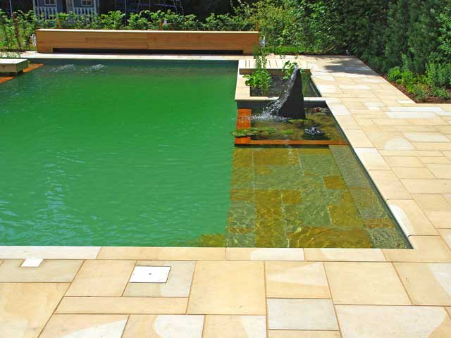 Yorkstone pool edging