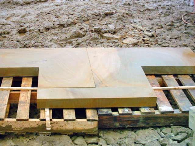 Sawn york stone slabs