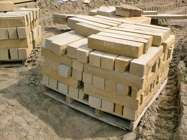 Yorkstone walling blocks