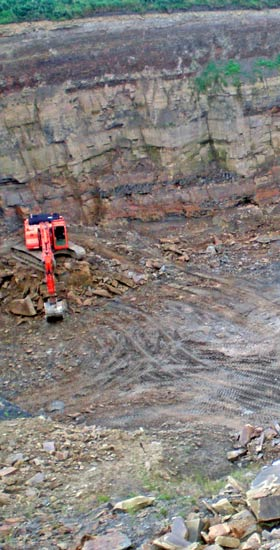 Yorkshire natural stone quarry